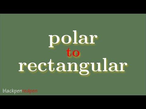 Convert polar coordinates to rectangular coordinates