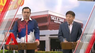 Khaw Boon Wan and Anthony Loke hold press conference at Seletar Airport