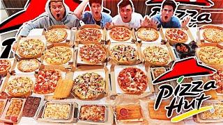 Entire Pizza Hut Menu In 10 Minutes Challenge