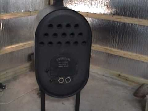 Barrel Stove with heat exchanger