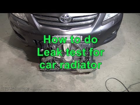 How to do Leak test for car radiator. Leak or Not?