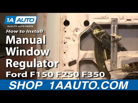 How To Install Replace Manual Window Regulator Ford F150 F250 F350 80-96 1AAuto.com