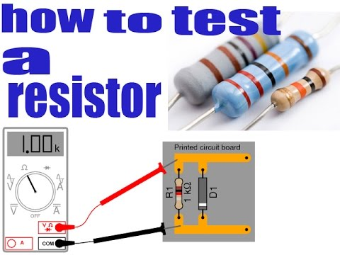 how to test a resistor with multimeter