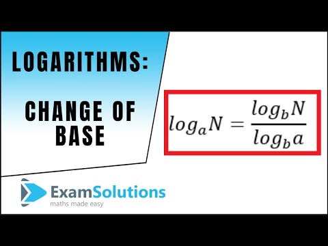 Logarithms - Change of base examples : ExamSolutions Maths Revision