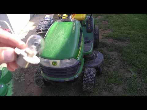 How to Remove Install Headlights on John Deere Riding Lawnmower LA100