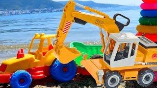 Ein Tag am Meer mit Spielzeugautos – Farben lernen für Kleinkinder  – Lehrreiche Videos auf Deutsch