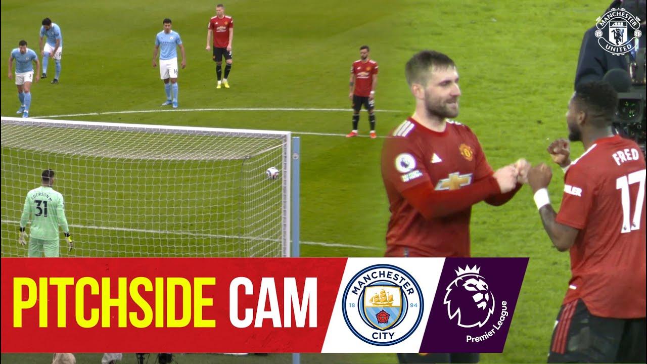 Pitchside Cam | Manchester City 0-2 Manchester United | Premier League