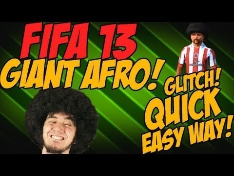 FIFA 13 | How To Get The Giant Afro On Pro Clubs (For FREE)