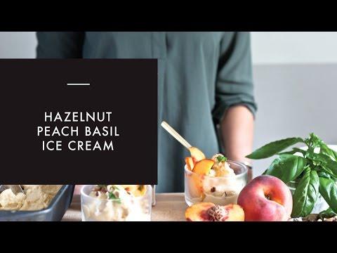 Hazelnut Milk Summer Peach Ice Cream Recipe