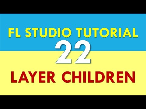 FL Studio Tutorial - Layer - How to see the children channels