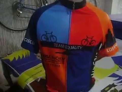 Team Equality Bike Jersey, San Fran to LA Bike Jersey by Bikingthings