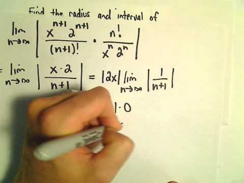 Interval and Radius of Convergence for a Series, Ex 3