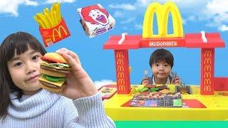MacDonaldマクドナルドお店屋さんごっこハンバーガーはいかがですか~? こうくんねみちゃん Play set toy