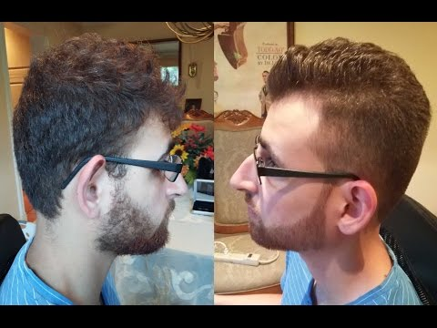 Men's Taper Fade Haircut Tutorial | With Beard Trim & Line Up