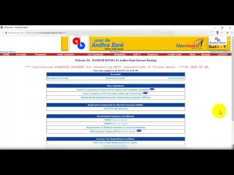 Andhra Bank Mobile Banking-1 How to register in mobile banking in andhra bank