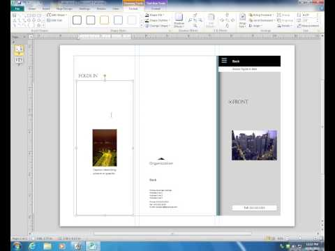 Creating a Brochure in Publisher 2010