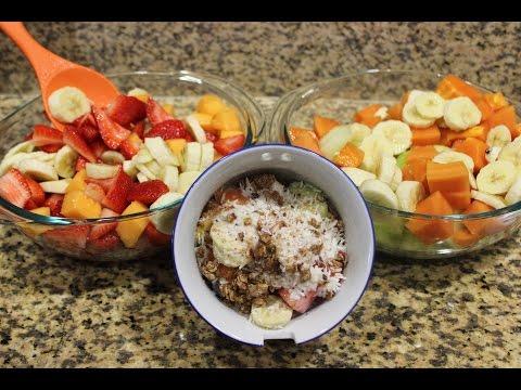 Vegan Bionico | Fruit Salad with Coconut Cream Sauce