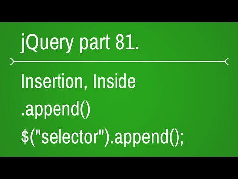jquery append function - part 81