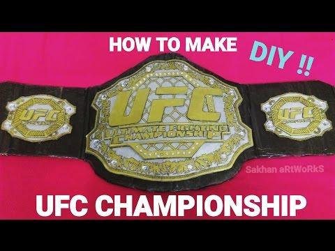 How To Make Ufc Championship belt