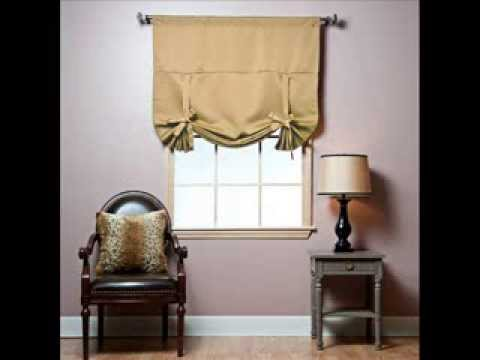 Tie-Up Shade Solid Insulated Thermal Blackout Window Shade 63
