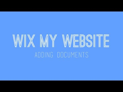 How to build a Wix website - Adding documents on Wix - Wix Tutorials For Beginners
