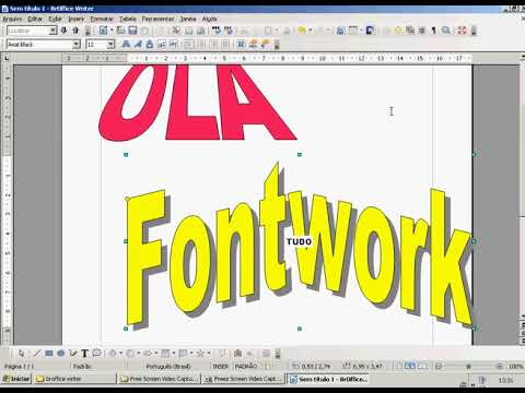 22 BROffice LibreOffice Writer  Fontwork WordArt