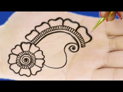 Beautiful Mehndi Designs For Hands | Simple Arabic Mehndi Design For Hands #18 @ jaipurthepinkcity