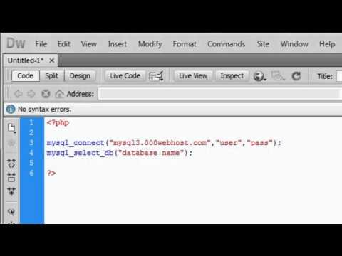 How to setup a MySQL database on a webserver