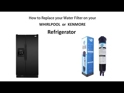 How to Remove and replace the water filter on your compatible WHIRLPOOL or Kenmore Refrigerator