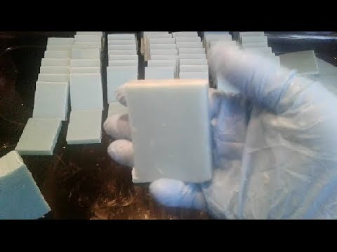 Making Soap Baby Shower Favors | Newborn Baby fragrance | blue mini cold process soaps