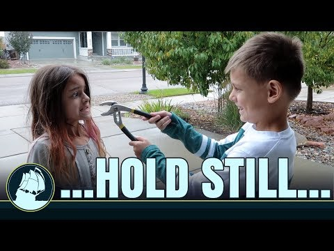 BIG brother pulls LITTLE sister's TOOTH! | MackeyFam