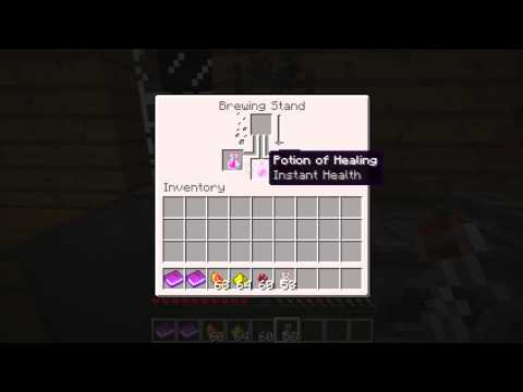 Minecraft: How to make Potion of Healing I and II