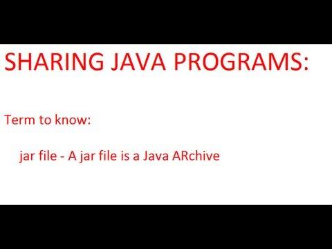 Java - Making Executable Jar Files