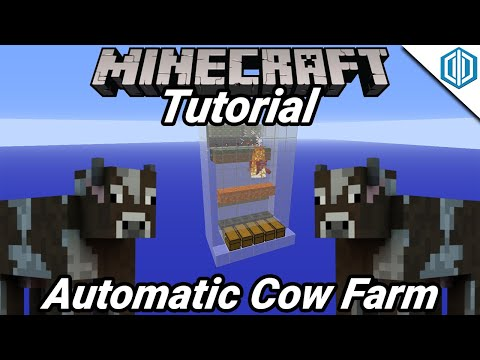 Automatic Cow Farm (Minecraft Factions Tutorial)
