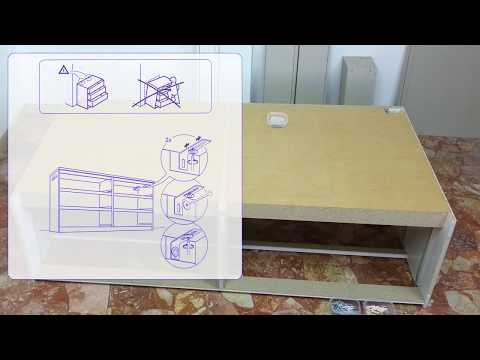 how to assamble Ikea Malm six drawer - time lapse