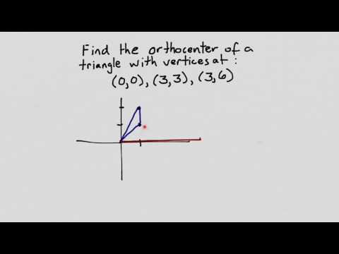 Finding Orthocenter Coordinates