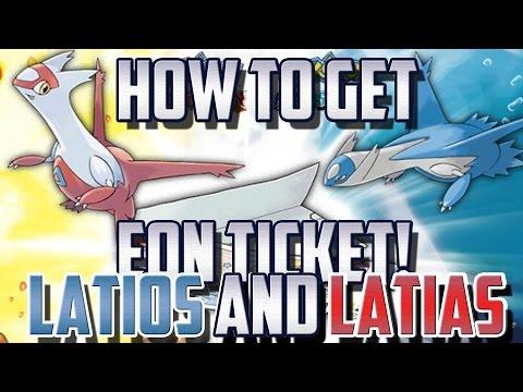 EON TICKET CODE! How to Get LATIOS or LATIAS Pokemon Omega Ruby / Alpha Sapphire!