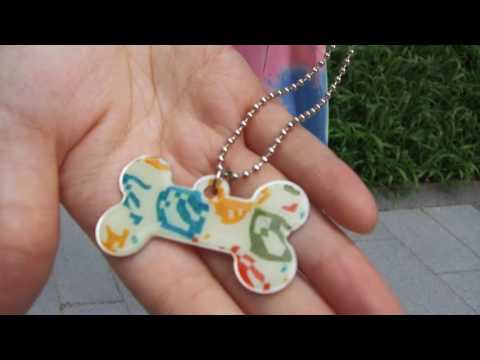 Custom Dog Tags and Button Necklace | ArtsCow