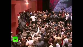 Video: Assad mobbed by exultant supporters after rare speech