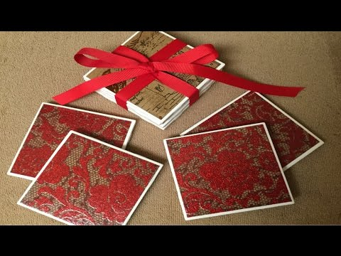 DIY Tile Coaster Gift Set