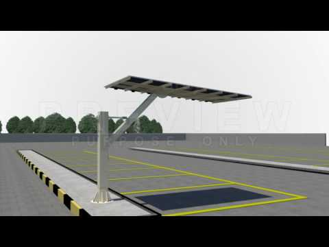 Solar Car Parking - Installation