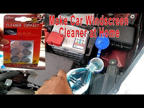 Make Your Car's Windscreen Cleaner at Home in just 2 minutes