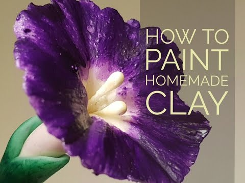 Painting  Homemade Clay - Morning Glory Flower