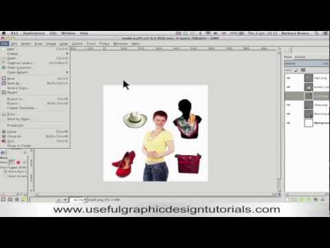 How to combine several images into one document using Gimp