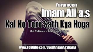 Kal Ko Tere Sath Kya Hoga - Farameen Imam Ali a s - Silent Message