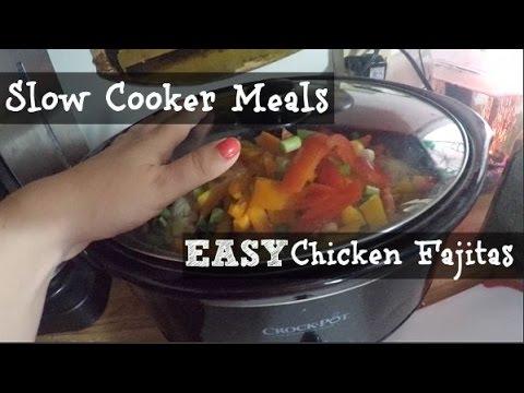 Slow Cooker Meals: Easy Chicken Fajitas in the Slow Cooker