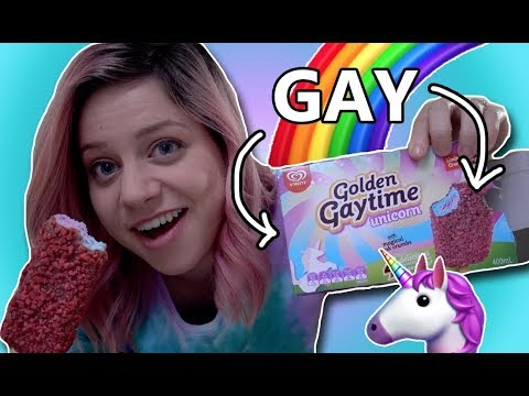 THIS ICE CREAM IS SO GAY! (Golden Gaytime Unicorn taste test)