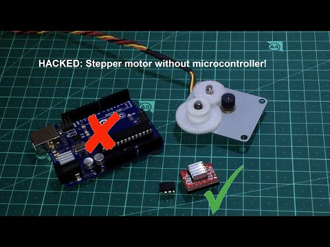 HACKED: Stepper motor without microcontroller! (Another way)