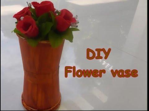 DIY : Flower vase using paper cups