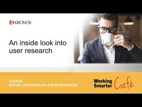 Working Smarter Café: An inside look into user research